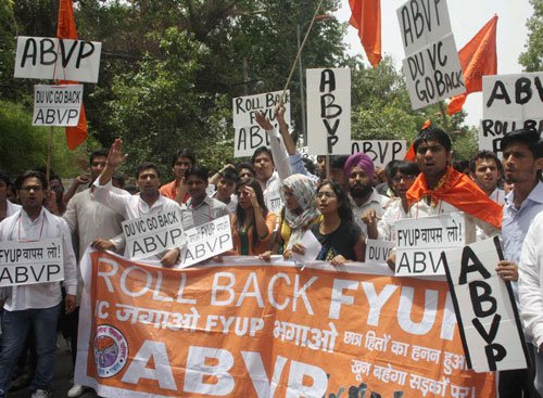 FYUP students call off protest after UGC's assurance