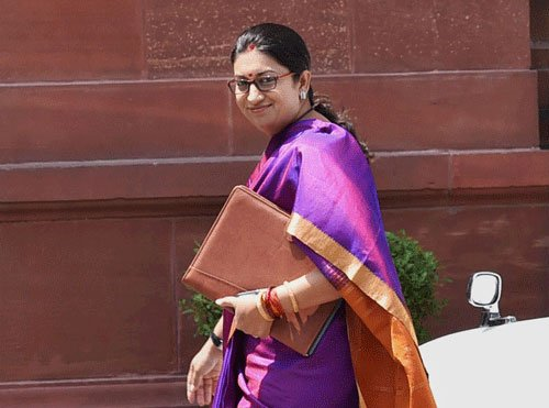 I was referred to as burden at my birth, reveals Smriti Irani