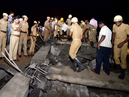 One dead, over 50 trapped in building collapse in Chennai