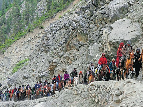 Amarnath yatra begins from Baltal route