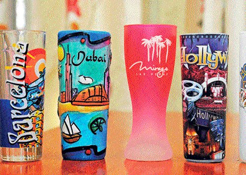 Shot glasses from around the world