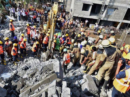 Hope springs eternal at Chennai collapse site