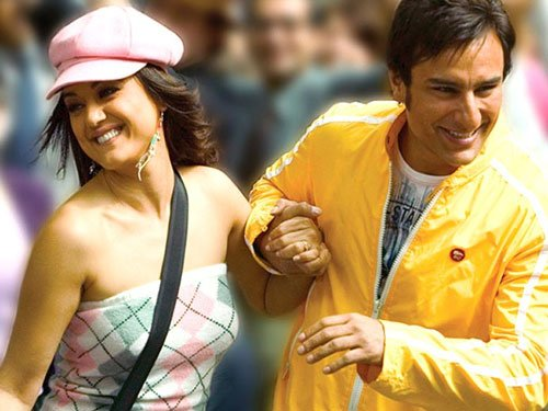 Preity Zinta shoots with Saif for 'Happy Ending'