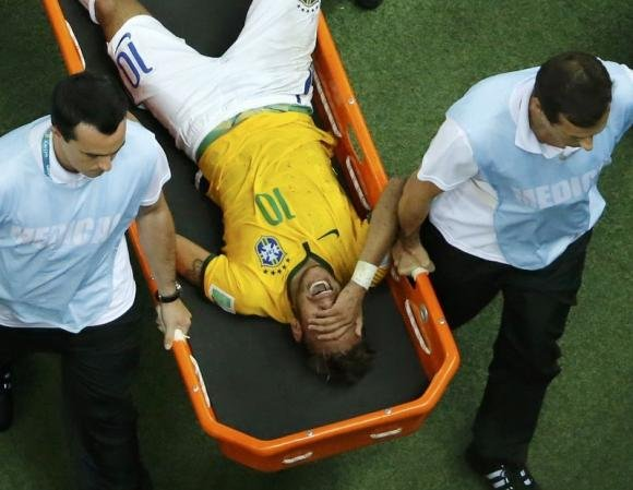 Brazil's Neymar out of World Cup with back injury