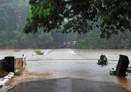 Rivers in spate, road traffic disrupted