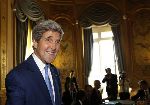 Kerry arrives for Indo-US strategic dialogue