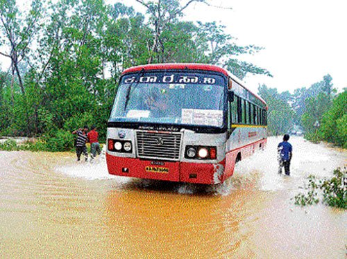 Rain wreaks havoc in U-K district
