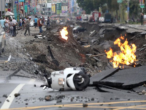 Powerful Taiwan gas explosions kill 20, injure 270