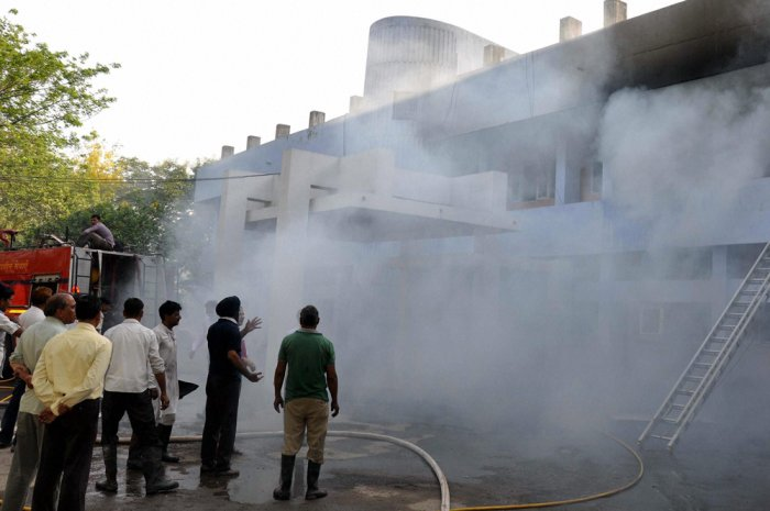 Five labourers killed in a factory blast