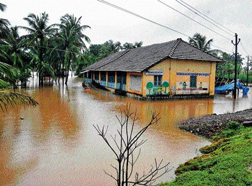 Many rivers in spate as heavy rain lashes State
