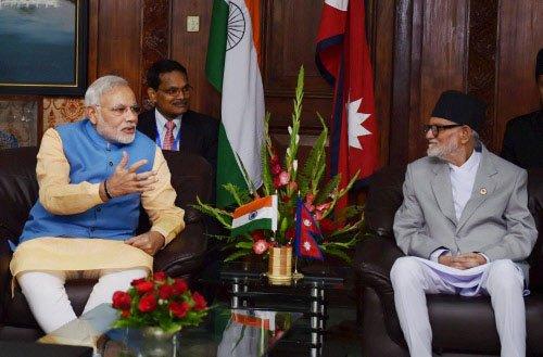 Modi meets Koirala, three agreements signed