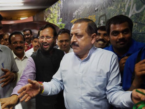 MoS PMO meets Home Minister, BJP chief over UPSC row