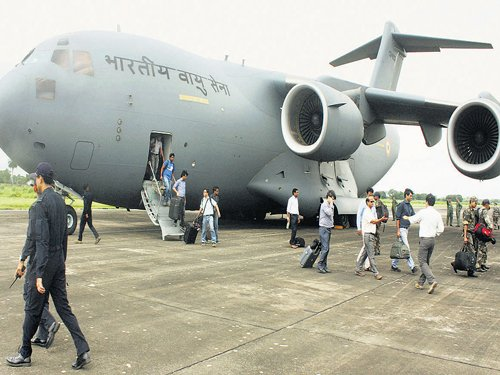 IAF sends aircraft to Nepal