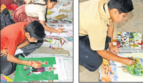 A brush with kids' artistic talent at DHiE contest