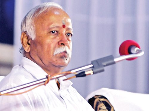 """RSS Chief under attack for """"Hindus"""" comments"""