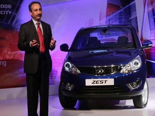 Tata Motors launches compact sedan Zest