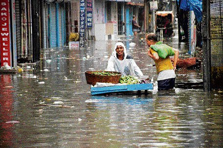 Patna submerged after downpour