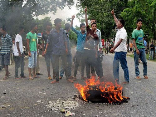 Mob violence in Golaghat against police action