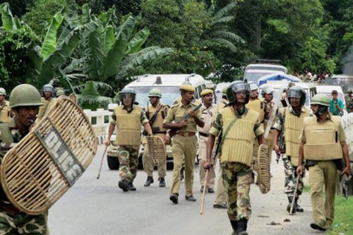 Three killed in police firing in Golaghat, indefinite curfew