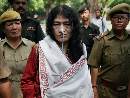 Sharmila forcibly taken away by police