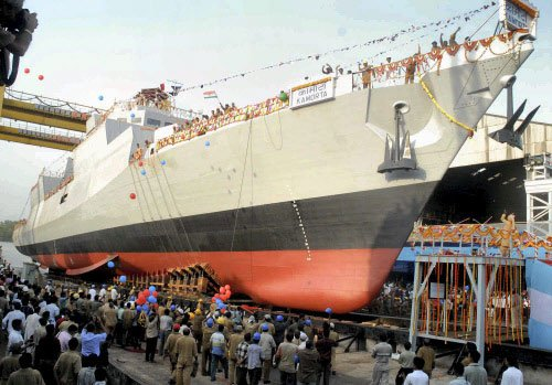 India's first indigenous anti-submarine warship commissioned
