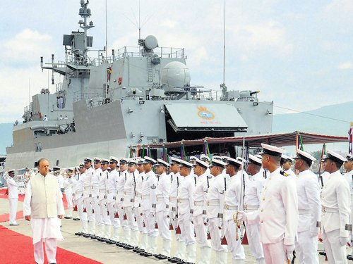 Navy inducts INS Kamorta; Jaitley calls for defence preparedness