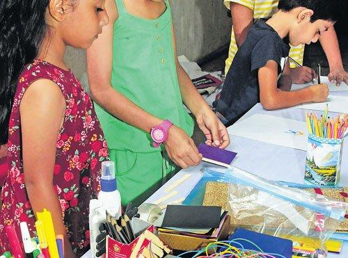 Organic cotton T-shirts, recycled carton bags at Green Bazaar