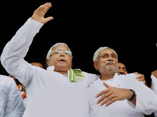 Nitish happy over success of 'experiment' with RJD, Cong