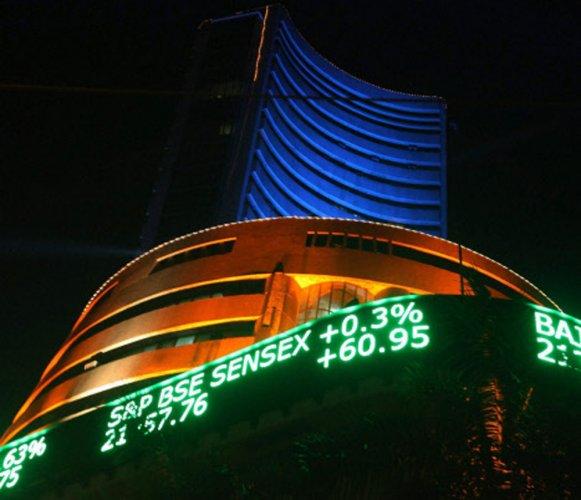 Sensex hits new record high of 26,582