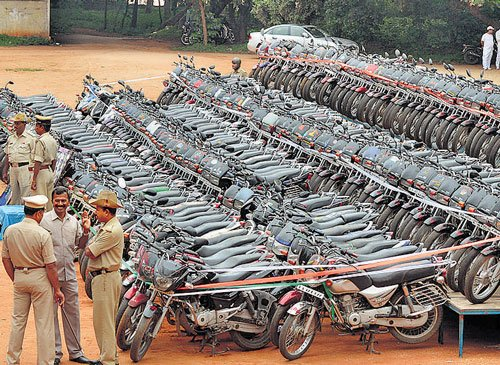 Four arrested, 203 stolen bikes recovered