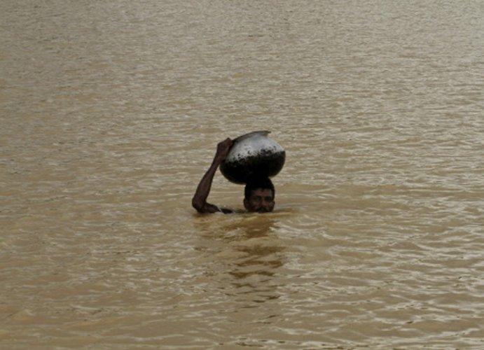 Heavy rain cripples life in Ahmedabad