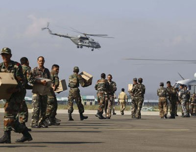 Stonepelters target choppers, planes in relief operations