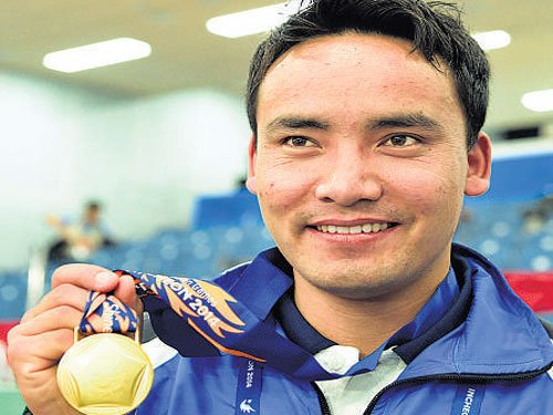 Jitu shoots gold on Day 1 at Asiad