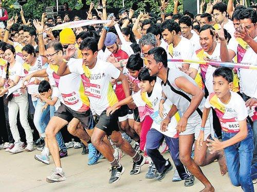 Huge response for 'Spirit of Wipro Run'
