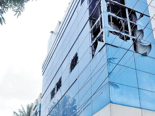 Minor fire doused at software company