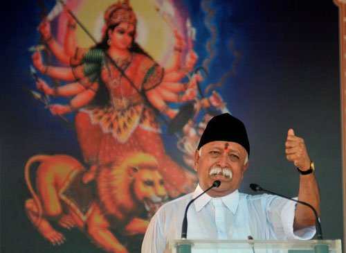 Govt slammed over live telecast of RSS chief's address