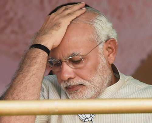On BJP's behalf, Modi reasserts a solitary stance