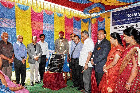 Rotary opens health centre at Bidadi