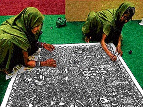 Recounting Ramayana through Madhubani art