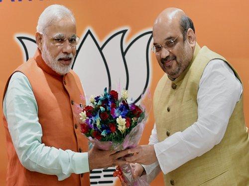 Modi tsunami out to finish Cong, says Shah