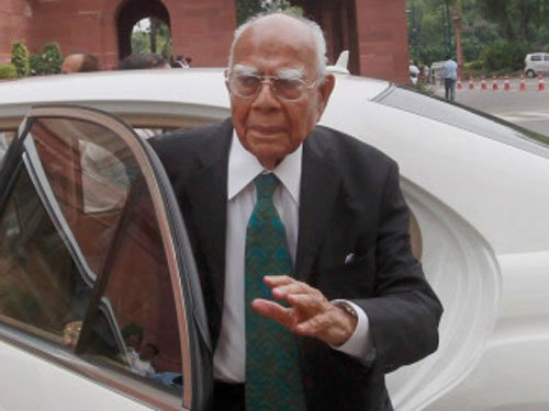 Govt submission on black money in SC 'ill-advised': Jethmalani