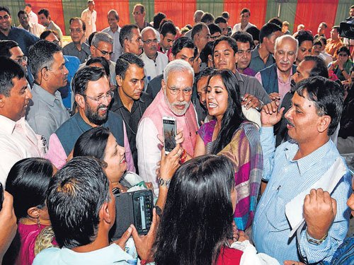 Modi lauds media for turning 'pen into broom'