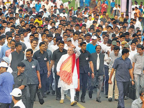 Row as Modi ignores Indira event