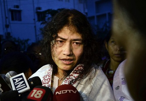Irom Sharmila's fast enters 15th year