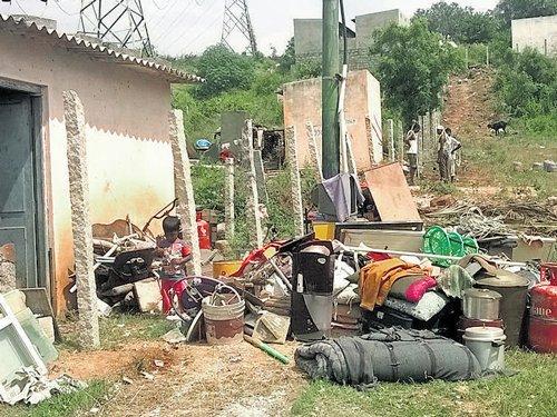 Despite title deeds, dwellings razed