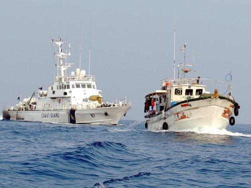 Four Navymen still missing after vessel sank last night