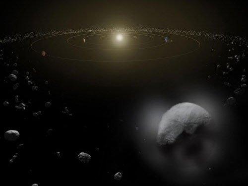 Star debris reveal unseen planetary system