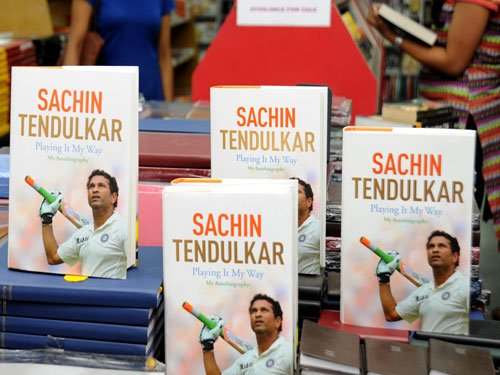 Sachin breaks record again - this time with his book