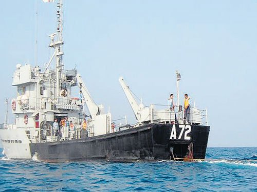 Navy's ageing ship carried more crew than normal