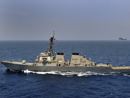 Rough sea hits Navy search for missing men
